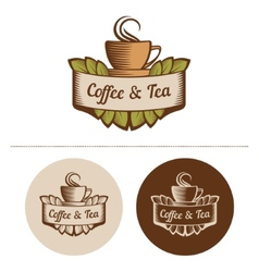 Coffee And Tea Logo Template vector