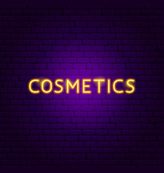 cosmetics neon text vector image