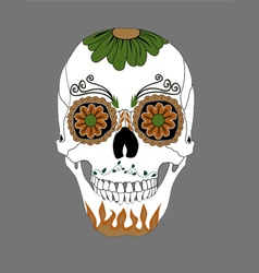 day dead skull vector image