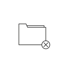 delete folder icon vector image