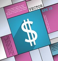 Dollars icon symbol flat modern web design with vector