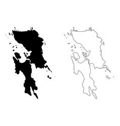 Eastern visayas region map vector