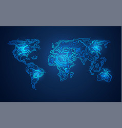 electronic world vector image