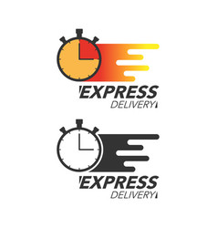 Express delivery icon concept stop watch icon for vector