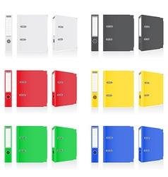 Folder binder metal rings 09 vector