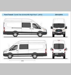Ford transit combi delivery van l4h3 2014-2018 vector