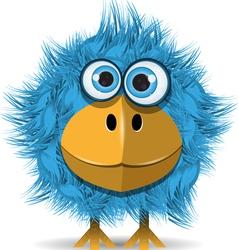 funny blue bird vector image