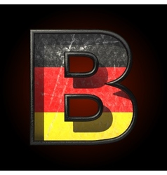 Germany cutted figure b vector