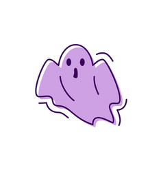 Ghost icon halloween facial expression horror vector