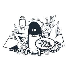 Graffiti doodle art vector
