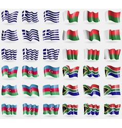 Greece Madagascar Azerbaijan South Africa Set of vector