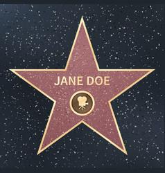 Hollywood movie actor celebrity walk fame star vector