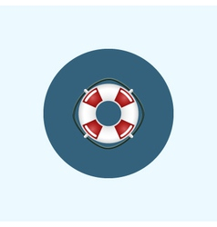 Icon with colored lifebuoy vector image
