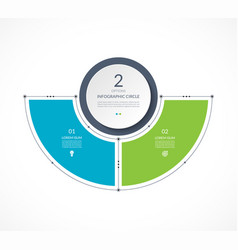 Infographic semi circle in thin line flat style vector