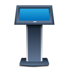 Kiosk icon realistic style vector