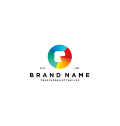 Letter q colorful logo design vector