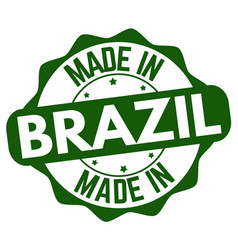 made in brazil label or sticker vector image