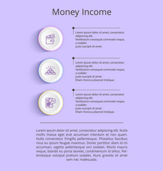 money income colorful poster vector image