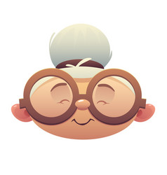nice grandmother character head with glasses vector image