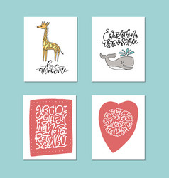 Nursery art collection vector