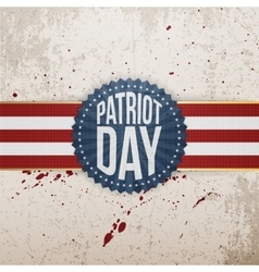 Patriot day paper festive tag vector