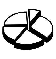 pie chart icon simple style vector image