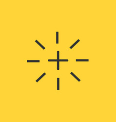 Plus or cross flash icon isolated on yellow vector
