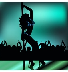 pole dancing girl vector image