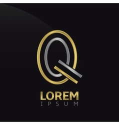 Q letter logo vector image