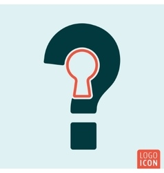 Question mark isolated vector