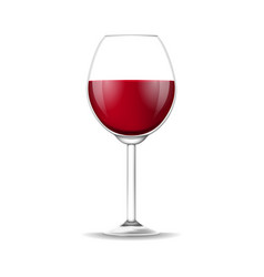 realistic detailed 3d red wine glass isolated on a vector image