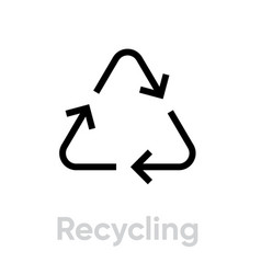 recycling icon three chasing arrows vector image