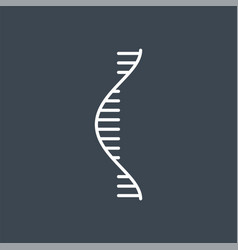 Rna related thin line icon vector