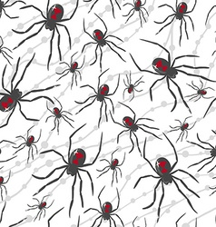 seamless Halloween pattern with poisonous spiders vector image