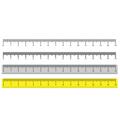 set metric rulers in flat style measuring vector image