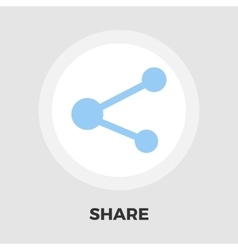 Share symbol icon flat vector image