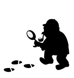 Sherlock silouette vector