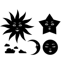 Sky silhouette vector