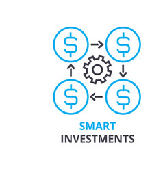 Smart investments concept outline icon linear vector