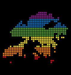 Spectrum pixel lgbt hong kong map vector