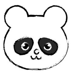 Stuffed animal panda vector