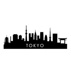 Tokyo skyline silhouette black tokyo city design vector