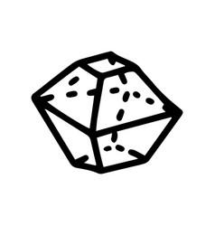 Truncated octahedron line doodle simple vector