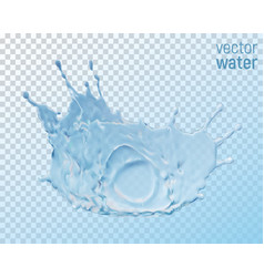 water crown splash isolated on transparent vector image