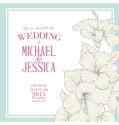 Wedding invitation template vector