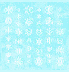 white snowflakes silhouettes isolated on abstract vector image
