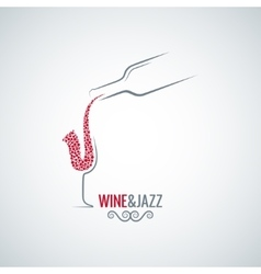 Wine and jazz concept design background vector