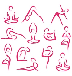 yoga big set vector image