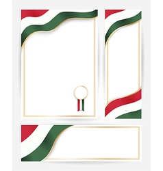 Hungary flag banners set vector image vector image