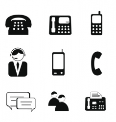 telephone icons vector image